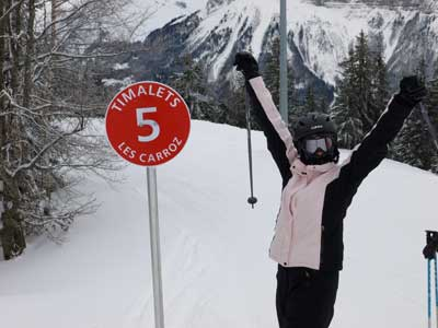 Another happy confident skier using Skiing with Confidence